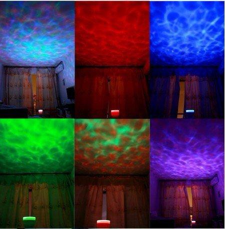 DUSIEC Ocean Relax Projector Pot Music Input,ocean Light,ocean Lamp,music Projection