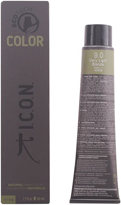 Icon Ecotech Natural Color 9.0 Very Light Blonde Tinte - 60 ...