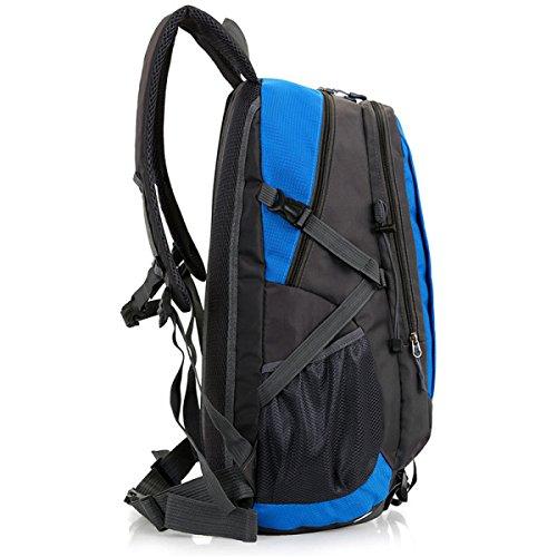 Bergsteigen Taschen Wandern Outdoor Sports Camping Rucksack Große Kapazität Wasserdichte Student Tasche 36-55L Red