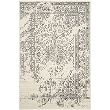 Safavieh Adirondack Collection ADR101B Ivory and Silver Area Rug, 5 feet 1 inches by 7 feet 6 inches (5'1  x 7'6 )