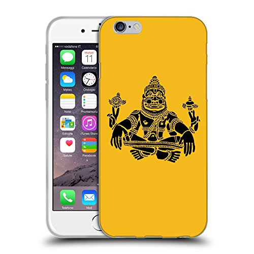 "GoGoMobile Coque de Protection TPU Silicone Case pour // Q08120602 Hindou 3 ambre // Apple iPhone 6 4.7"""