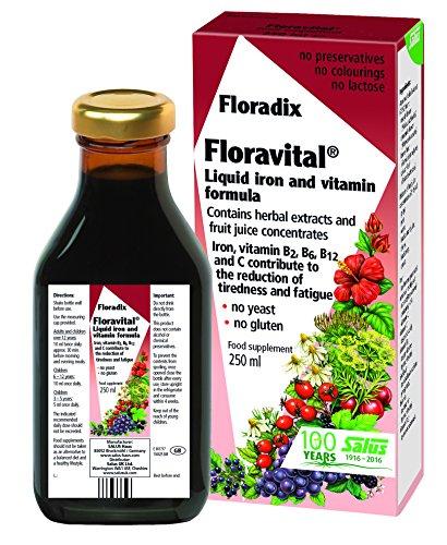 Floradix Formula Iron - Floradix Floravital Liquid Iron and Vitamin Formula 8.5 fl.oz. - 250 ml. - Made in Germany