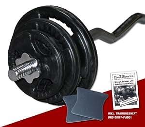 Goma Gripper Juego de pesas (40kg–Profesional Ware, incluye almohadillas de agarre e instrucciones para ejercicios