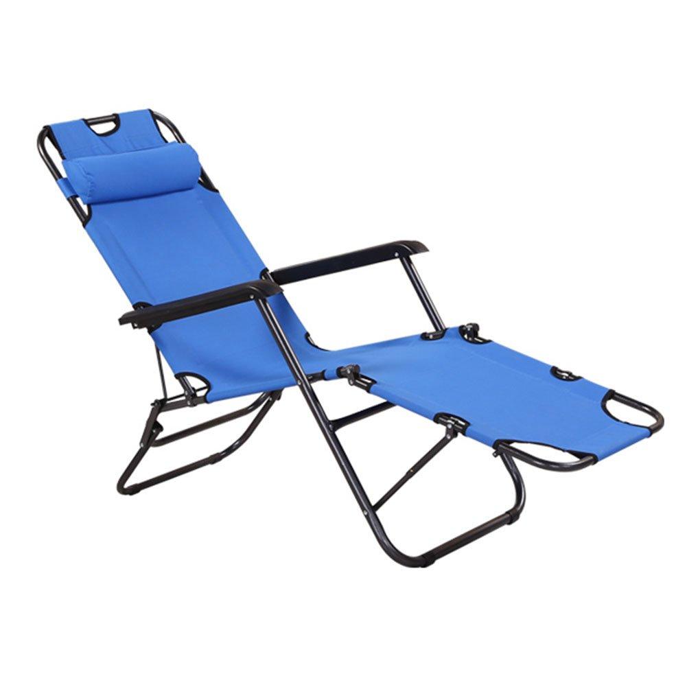 HM&DX Tragbare Klappstuhl Außen Liegender Gravity Chair Mit Kissen Lounge Chair Für Büro Garten Strand