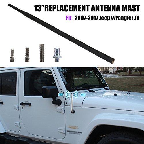 Antenne de voiture Mâ t d'antenne pour Jeep Wrangler jk 2007-2017 BOXWELOVE
