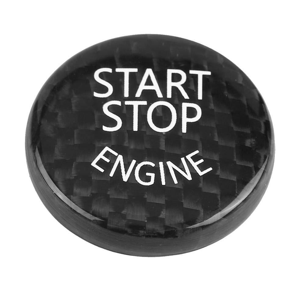 Bouton darr/êt de d/émarrage Bouton dinterrupteur Cache Garniture Noir Fibre de carbone Allumage Porte-cl/és Sticker Pour 1~7 s/éries F20 F21 F22 F23 F30 F31 F32 F33 F10 F11 F30 F12 F13 F01 F02