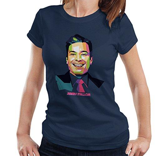 Coto7 Geometric Celebrity Jimmy Fallon Women's T-Shirt (Late Night With Jimmy Fallon T Shirt)