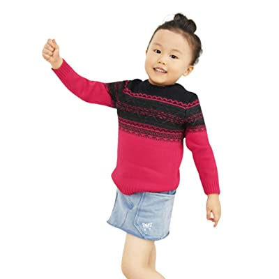 ChainSee Baby Pullover Sweater, Girl Boy Splice Color Crewneck Knit Sweatshirt