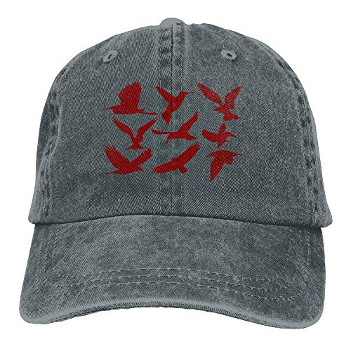 (Men Women Adjustable Yarn-Dyed Denim Baseball Cap Birds Animals 1 Dad Hat)