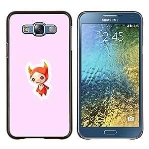 Stuss Case / Funda Carcasa protectora - Cráneo Rojo - Samsung Galaxy E7 E700