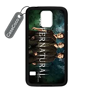 CASECOCO Supernatural Samsung Galaxy S5 Case Hard Back / Black Rubber Sides Case for Samsung Galaxy S5 by ruishername