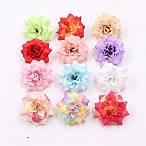 Artificial Flower Flower Heads in Bulk Wholesale for Crafts Mini Silk Rose Wedding Home Decorative DIY Party Festival Decor Wallet Gift Cut & Clip Simulation Fake Flowers 30pcs 4.5cm 68