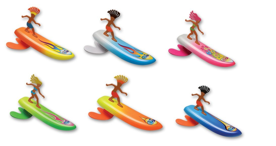 Surfer Dudes Wave Powered Mini-Surfer and Surfboard Beach Toy - Costa Rica Rick
