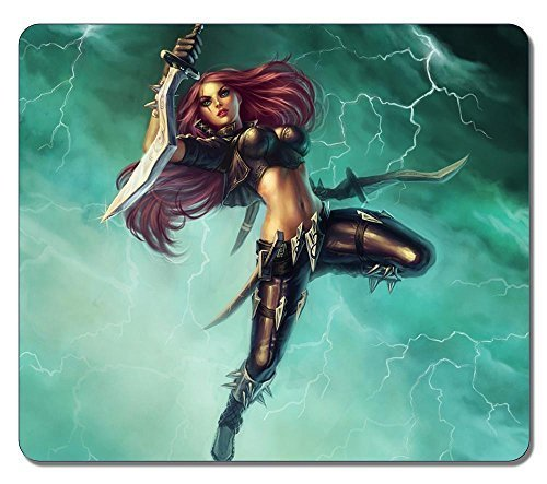 Customized Fashion Style Textured Surface Water Resistent Mousepad Katarina League Of Legends 9 High Quality Non-Slip Gaming Mouse Pads