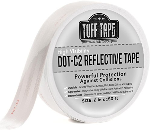 (DOT Reflective Tape - White - DOT-C2 Conspiciuity Tape - COMMERCIAL ROLL - 2