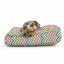 Comfort Research Wuf Fuf Pillow In ZoomZoom Chartreuse/Pink - Small