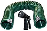 Plastair Spring Hose with Green Nozzle, 50'