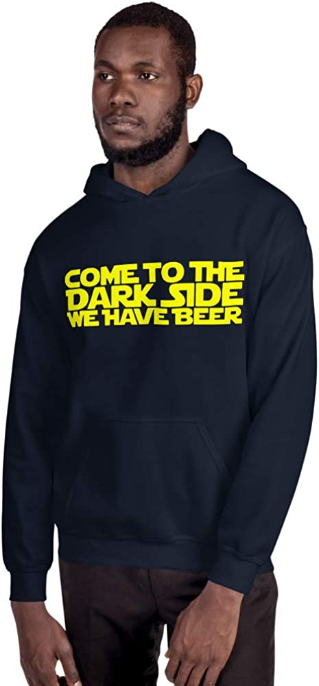 Mynimo Come to The Dark Side We Have Beer Starwars Inspired Funny Unisex Hoodie