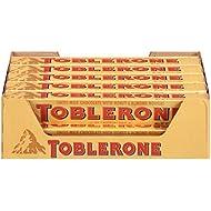 Toblerone Chocolate Bar, Milk, 3.52 Oz, 20 Count