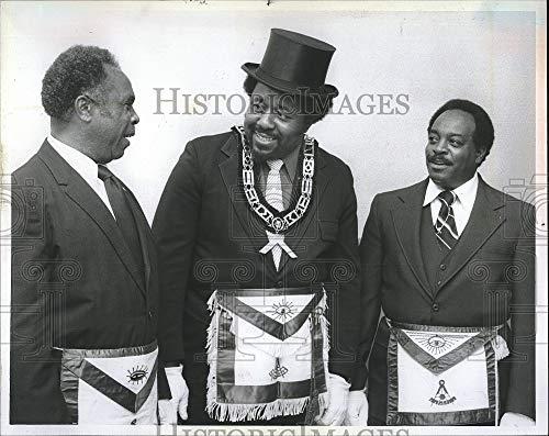 Vintage Photos Press Photo W. A. Welldon, J. B. Shorts, Eugene Hurey, Masons, Columbus Georgia
