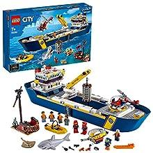 LEGO City Oceans Océano: Buque de Exploración Set Aguas Profundas, Juguetes de Aventuras Submarina para Niños, Multicolor (60266)