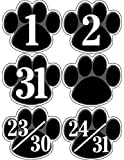 Teacher Created Resources Black Paw Prints Calendar Days (5232) by Teacher Created Resources