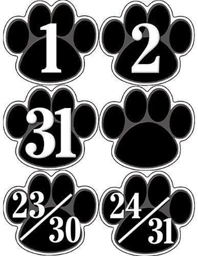 Teacher Created Resources Black Paw Prints Calendar Days (5232) by Teacher Created Resources