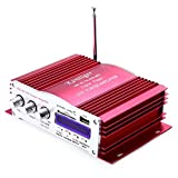 Robolife Kentiger 2008 Power Failure Memory Function IR Control FM MP3 USB Power Amplifier 4 Channel with Remote Control