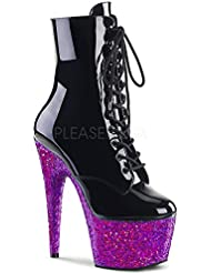 Pleaser Womens ADORE-1020LG/B/PPG Boots