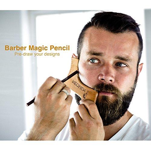 Favorito Kit per Cura della Barba in Legno, Sagoma per Modellare la Barba  FG83