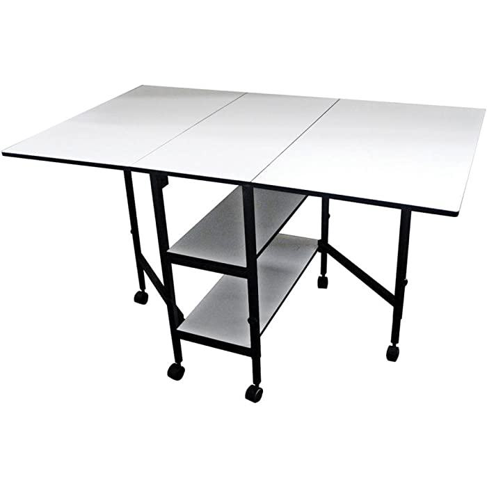 Best Compact Fabric Cutting Table: Sullivans 38431 Adjustable Height Foldable Table