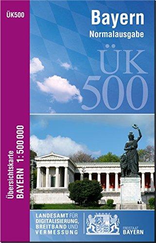 ÜK500 Amtliche Übersichtskarte von Bayern 1:500000 / ÜK500 Übersichtskarte von Bayern 1:500000: Normalausgabe ( Physische Ausgabe 1:500 000 )