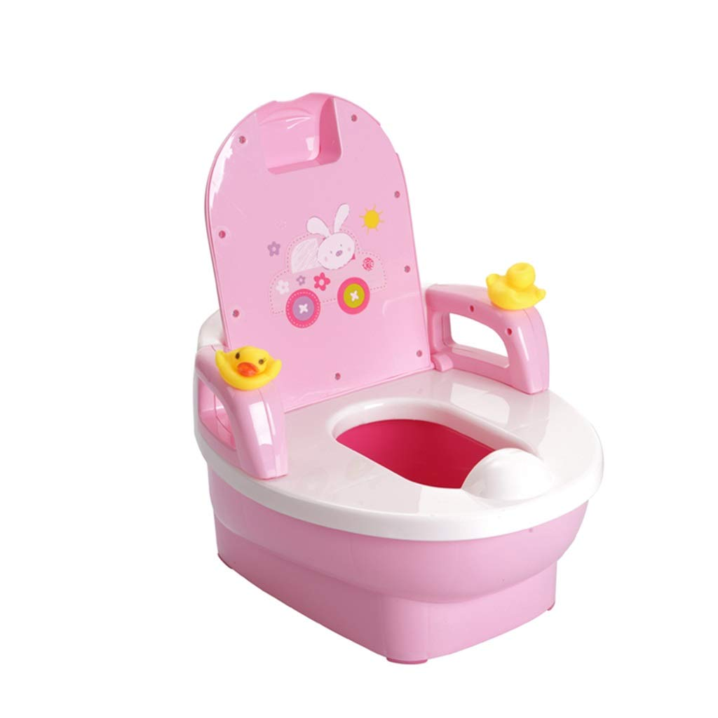 XWJC Extra Large Drawer Children's Toilets Male and Female Baby Baby Potty Kids Toilets Frog Toilets (Color : Pink)
