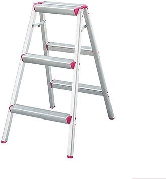 Escalera de tijera ligera plegable de aluminio para el uso en el trabajo doméstico, taburete con escalón con plataforma de trabajo y tapa antideslizante, capacidad de carga de 220 lb: Amazon.es: Bricolaje