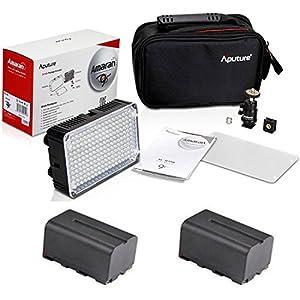Aputure Amaran Al-h198c Led Video Light with 2 Batteries for Canon 650d 600d 1100d 550d 500d 450d 1000d 400d 350d 300d Camera Dslr SLR Camcorder Lamp Illumination Cam