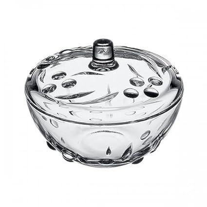 Pasabahce 97236 Perla – Azucarero de Caja de Cristal con Tapa de Caramelo