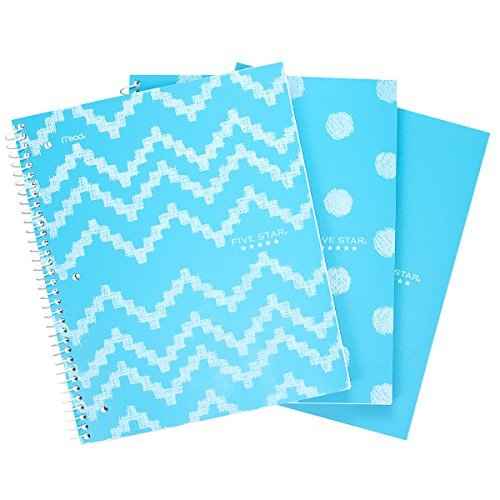 1 subject spiral notebook with pockets  amazon com