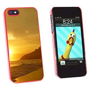 Graphics and More Rio De Janeiro Beach Brazil - Snap-On Hard Protective Case for Apple iPhone 5/5s - Non-Retail Packaging - Red