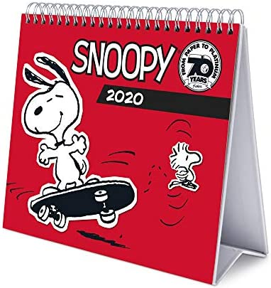 Erik® Snoopy Deluxe Tischkalender 2020 (17x20 cm)