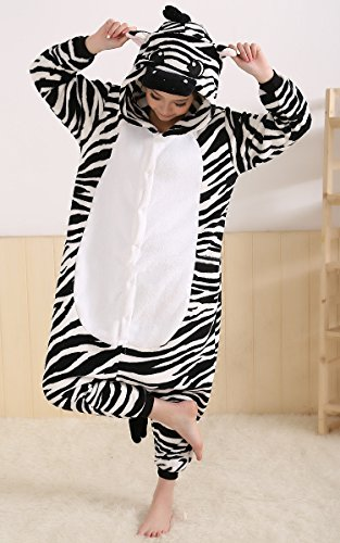 Onesie - Zebra - Adult Animal Costume Pajamas - Large/X-Large by FunNFurry (Zebra Costumes For Adults)