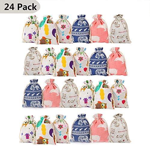 Queta 24pcs 6 Couleurs Lot de Sachet color/és Pochette 10x14cm pour Le Mariage,Les Bijoux,Le Bonbon d/écoration f/ête