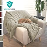 Premium Waterproof Soft Sherpa Pet Blanket by PetAmi   Cozy - Comfortable - Plush - Lightweight Microfiber - 100% WATERPROOF (50