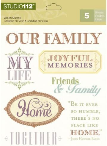 Amazon.com: K&Company Vellum Family and Friends Quotes