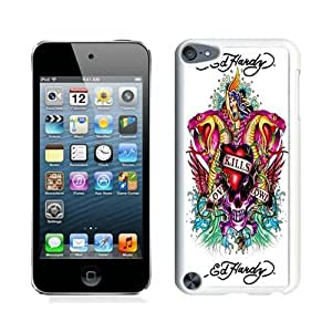 High Quality iPod Touch 5 Case ,Cool And Fantastic Designed Case With Ed Hardy 8 White iPod Touch 5 Cover