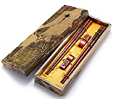 #3: Zomchain Chopsticks Dragon and Phoenix with Holder and Carrying Bag Chinese Gift Set 2 Pairs Red
