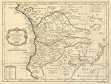 Amazon.com: 'Carte des Royaumes de Congo, Angola et Benguela ... on map of armenia, map of ghana, map of lesotho, map of southern europe, map of argentina, map of africa, map of albania, map of namibia, map of philippines, map of zambia, map of mozambique, map of burkina faso, map of bolivia, map of chile, map of african countries, map of botswana, map of madagascar, map of djibouti, map of latvia, map of spain,