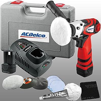 """ACDelco ARS1210R Li-ion 12 Volt 3"""" Mini Polisher w/ Headlight Restoration kit+2 battery from Durofix Inc."""