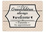Grandchildren Always Welcome Parents by Appointment Wooden Decorative Sign Home Decor Novelty Sign