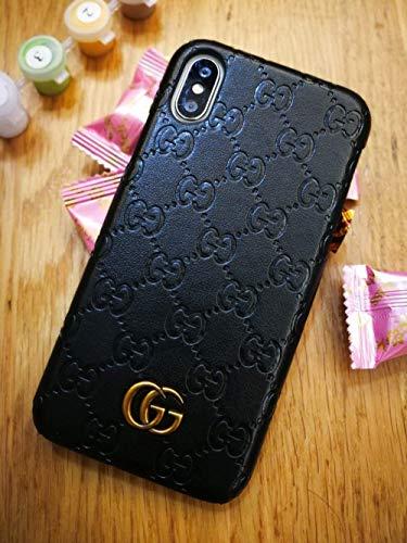 Black Premium PU Luxury Stylish Designer Fashion Leather Cover Case for iPhone 8 Plus & 7 Plus