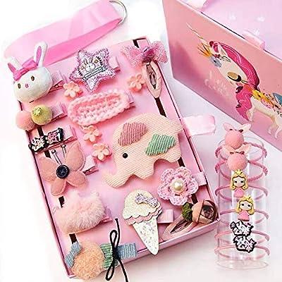 24pcs Gift Set Hair Accessories Baby Little Girls Hair Clips Bows Barrettes Hairpins Set Head Ornaments